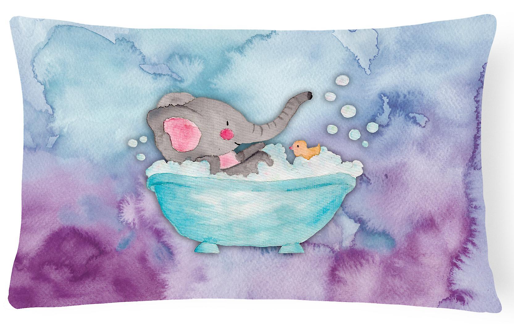 Aquarelle Les Éléphants Toile Baigner Décoratif Se Tissu Oreiller CrBWdxoe