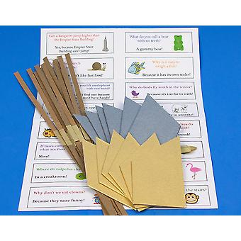 12 Gold & Silver Paper Hats, Snaps & Jokes for Cracker Making Crafts