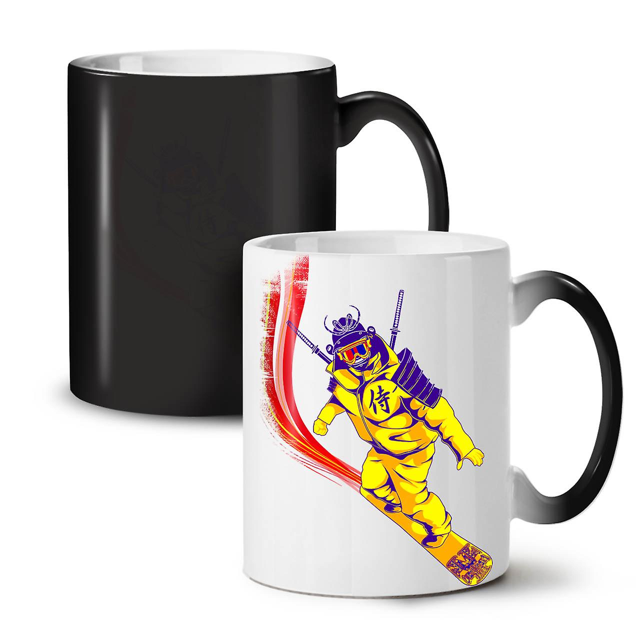 Snowboard Colour New Changing Coffee Tea Ceramic Black Katana 11 OzWellcoda Mug O8w0nPkX