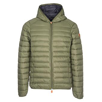 Save the duck men's D3065MGIGA500841 green nylon Quilted Jacket