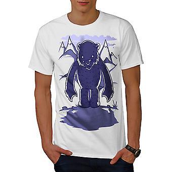 Weißer Bär Cartoon Männer WhiteT-t-Shirt   Wellcoda