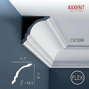 Corner bar ORAC decor CX106F AXXENT flexible strip of stucco moulding timeless classic design white 2 m