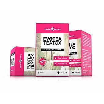 EvoTea Teatox Detox Herbal Weight Loss Slimming Tea - 3 Boxes (90 Tea Bags) - Weight Loss Tea - Evolution Slimming
