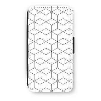 Huawei Ascend P10 Flip Case - Cubes black and white