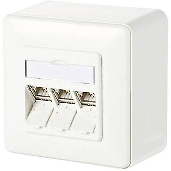Network outlet Surface-mount CAT 6A 3 ports Metz Connect