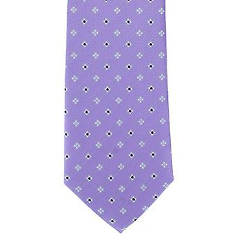 Michelsons of London Simple Flower Neat Polyester Tie - Purple
