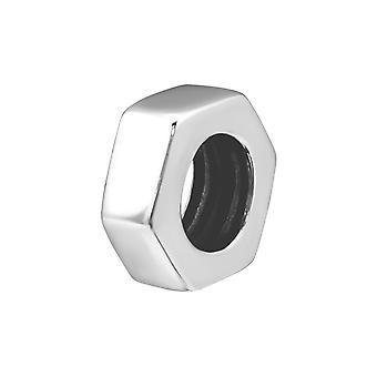 Hexagone - 925 Sterling Silver plaine Beads - W21986X