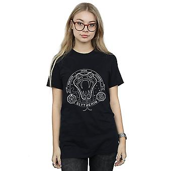 Harry Potter Women's Slytherin Seal Boyfriend Fit T-Shirt