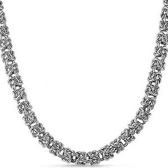 Iced Out Edelstahl BYZANTINE Kette - 6mm silber