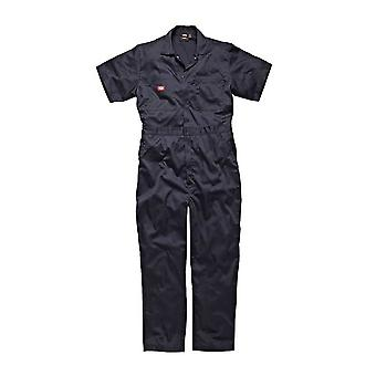 Dickies Mens Workwear Cotton Super Safety Coverall  Navy Blue WD2299N