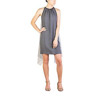Prada Women's Acetate Viscose Blend Winged Dress Grey