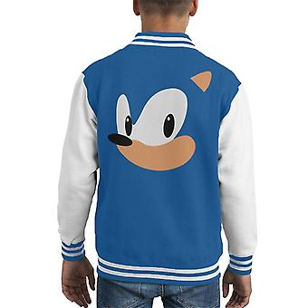 Sonic The Hedgehog portret Kid's Varsity Jacket