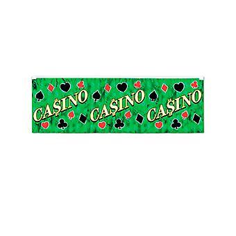 Casino metallisk Fringe Banner
