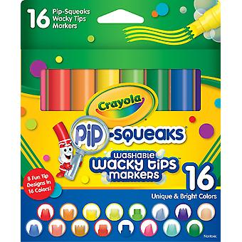 Crayola Pip-Squeaks Washable Wacky Tip Markers-16/Pkg