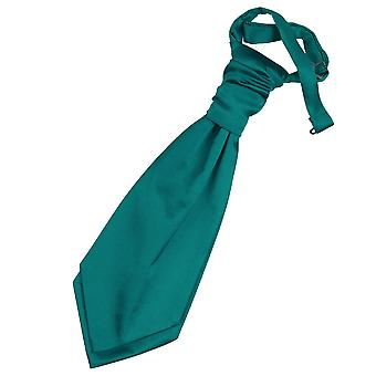 Teal Plain Satin Hochzeit bereits gebundene Krawatte für jungen