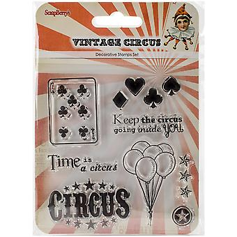 Scrapberry's Vintage Circus Clear Stamps 4