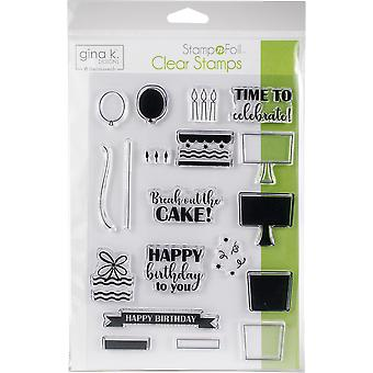 Gina K Designs Clear Stamps-Time To Celebrate