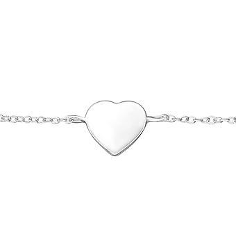 Corazón - pulseras de cadena de plata esterlina 925 - W37550X