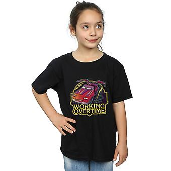Poopsmoothie Girls Working Overtime T-Shirt