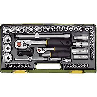 Bit sistema Imperial 1/4 (6.3 mm), 1/2 (12.5 mm) 65 piezas Proxxon Industrial conjunto súper 23294