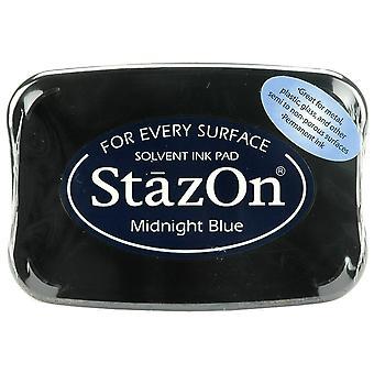 StazOn Solvent Ink Pad-Midnight Blue