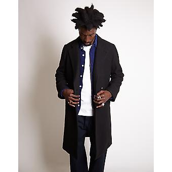 Saturdays NYC Saul Double Breasted Top Coat Black