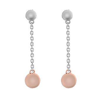Orphelia Silver 925 Drop Earring Bicolor with Element - ZO-7385