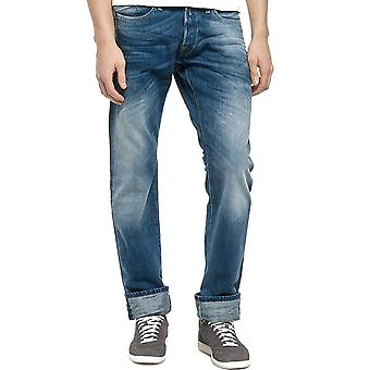 Replay Waitom MediumLight tvätta Denim Jeans Straight Fit