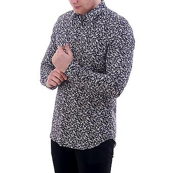 PS Paul Smith Slim Fit Shirt With Leaf Floral Print