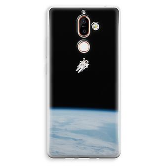 Nokia 7 Plus Transparent Case - Alone in Space