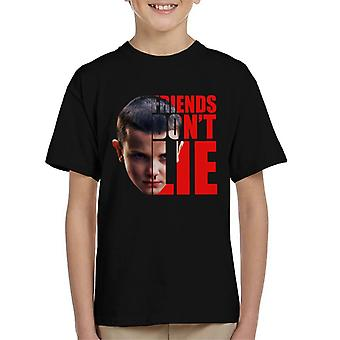 Stranger Things Eleven Half Head Text Kid's T-Shirt