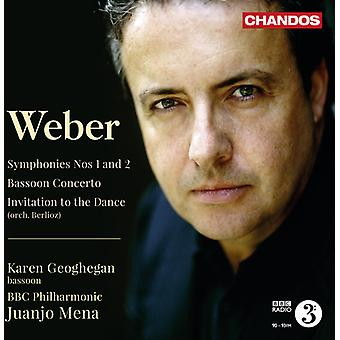 C.M. Von Weber - Weber: Symphonies Nos. 1 & 2;  Bassoon Concerto; Invitation to the Dance [CD] USA import