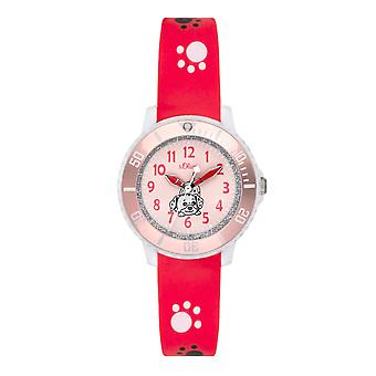 s.Oliver silicone band watch kids SO-3631-PQ