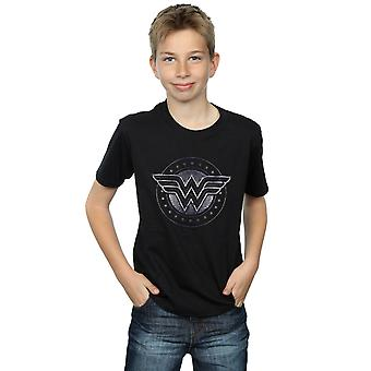 DC Comics Boys Wonder Woman Star Shield T-Shirt