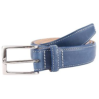 Bassin and Brown Leather Belt - Blue