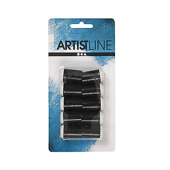 10 Sponge Mini Dabbers for Finger Tip Arts & Crafts | Kids Paint Brushes
