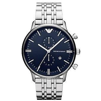 Emporio Armani Mens' Chronograph Watch - AR1648 - Black/Steel