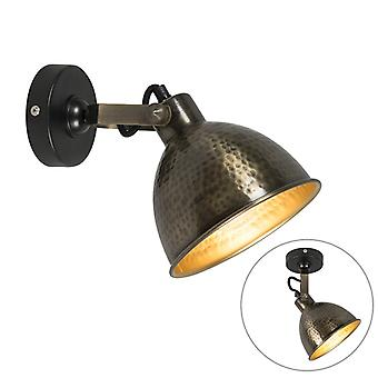 QAZQA Country Wall Lamp Aged Brass - Liko