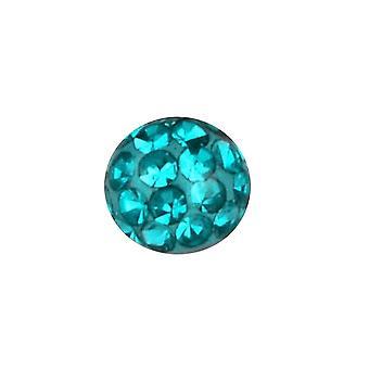 Zastąpienie kulkowe, biżuterii ciała, piercing Multi kryształ kamienie Blue Zircon | 4, 5 i 6 mm