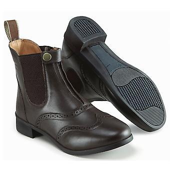 Harry Hall Womens Eston Paddock Jodhpur Boots Shoes Pull On Design