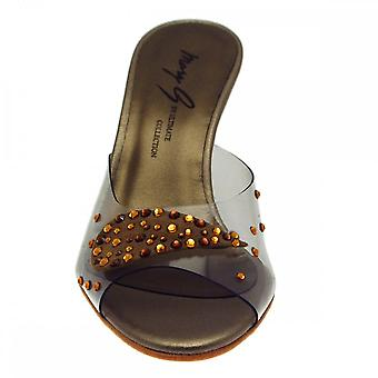 Ultimate Collection Wedge Slip On Mule Diamante