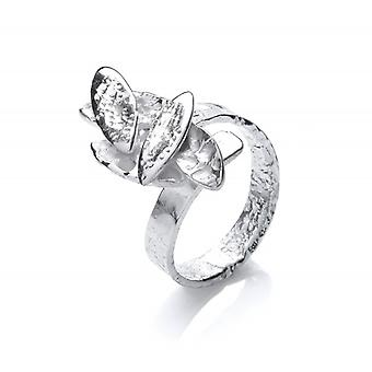 Cavendish French Silver Falling Leaves Ring