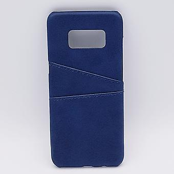For Samsung S8-artificial leather back cover/wallet-blue