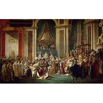 Coronation of Napoleon, Jacques-Louis David, 40x60cm with tray