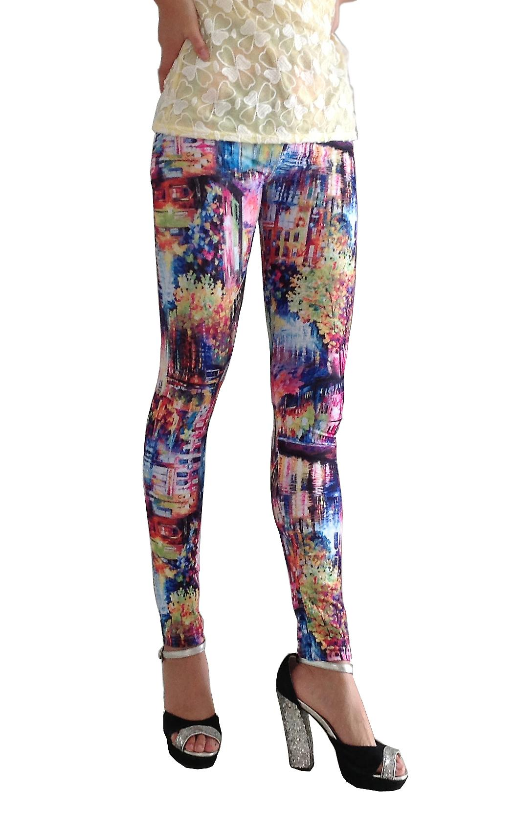 Waooh - Fashion - Leggings Pattern Floral Painting Style Sela
