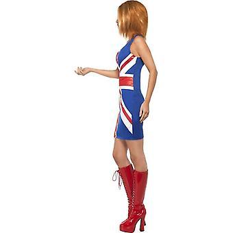 生姜パワー、1990 年代アイコン衣装、イギリス ドレス 12-14