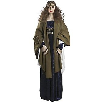 Cape medieval Lady costume cloak Cape middle ages ladies costume jacket Green