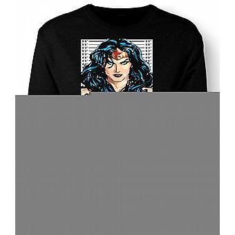 Mens Sweatshirt Wonder Woman - tegneserie - krus skudd