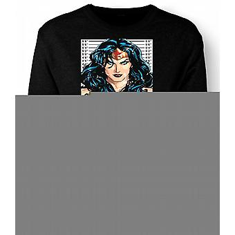 Mens Sweatshirt Wonder Woman - Cartoon - Mug Shot