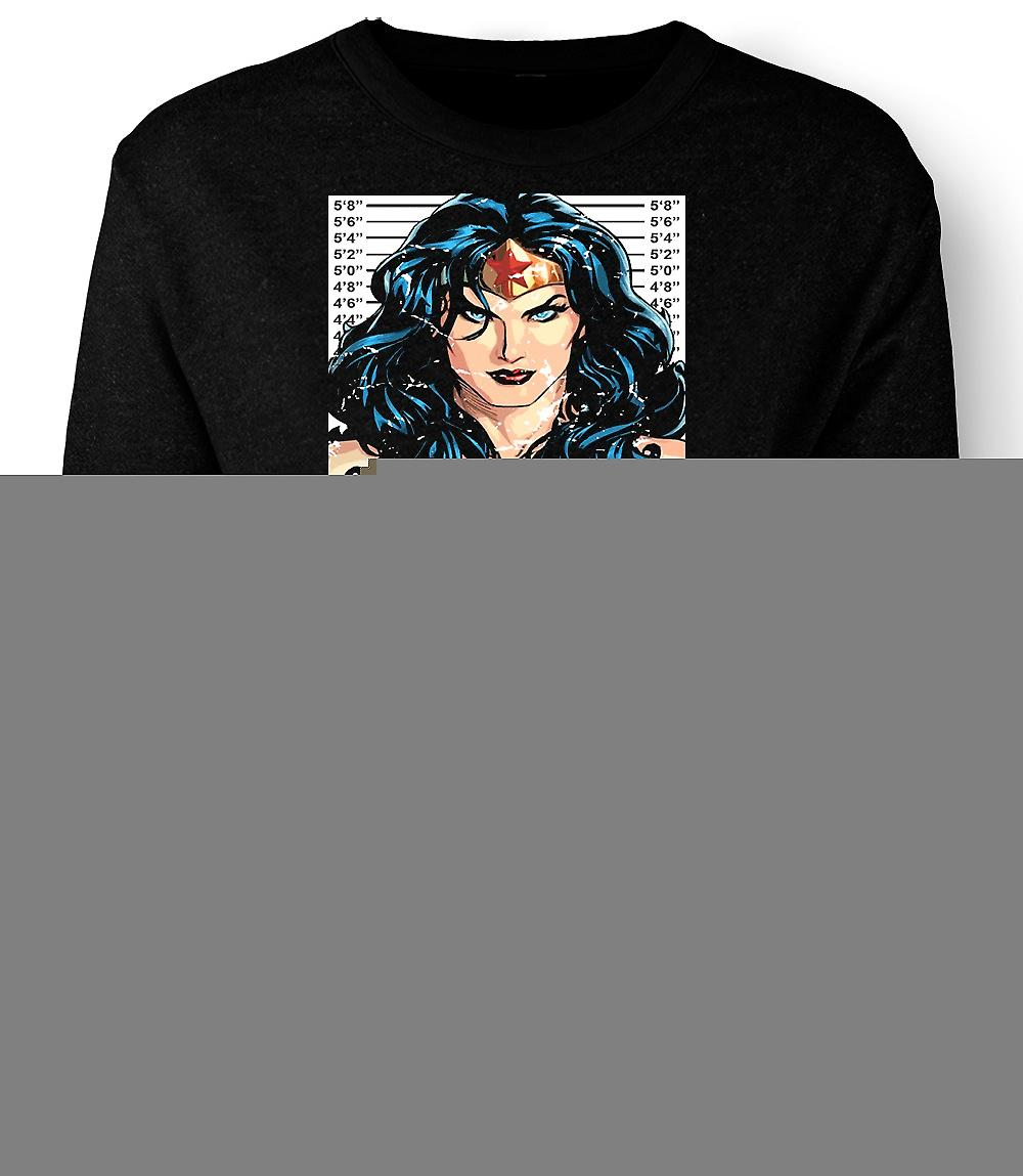 Mens Sweatshirt Wonder Woman - Cartoon - Mug Shot